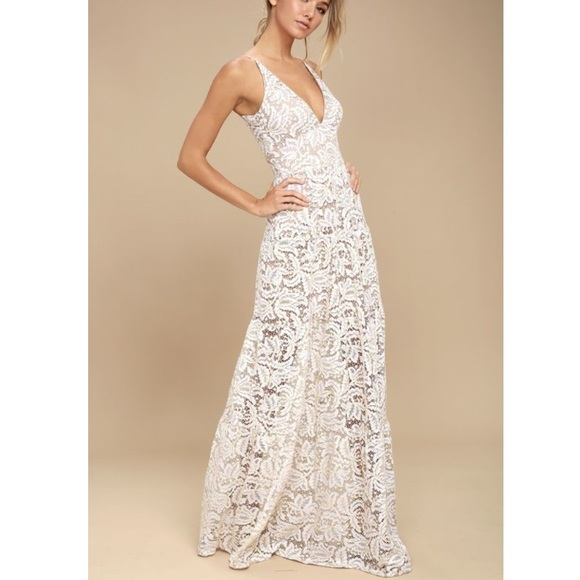 acf5f9e6f Lulu's Dresses   Lulus Melina White Lace Maxi Dress   Poshmark
